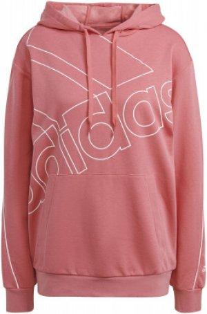 Худи женская adidas Essentials Giant Logo, размер 48-50. Цвет: розовый