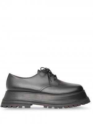 Туфли дерби на шнуровке Burberry. Цвет: черный