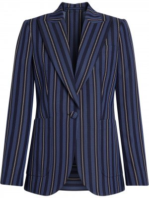 Collegiate Stripe Wool Blend Blazer Burberry. Цвет: синий