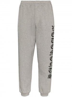 Спортивные брюки с логотипом Vetements. Цвет: серый