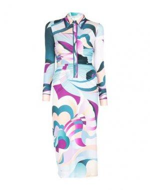 Платье длиной 3/4 EMILIO PUCCI. Цвет: фиолетовый