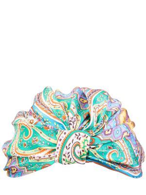 Шелковая бандана с принтом ETRO. Цвет: разноцветный