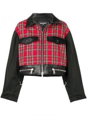 Укороченная куртка с контрастными вставками Dsquared2