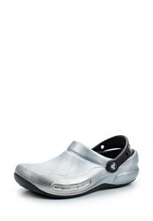 Сабо Crocs. Цвет: серебряный