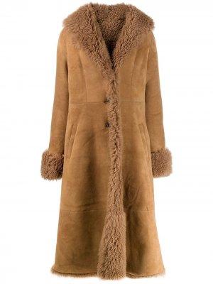 Пальто Pippa с расклешенным подолом Liska. Цвет: коричневый