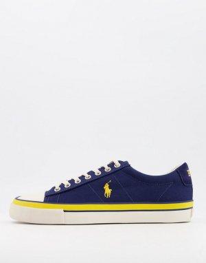 Темно-синие кроссовки из парусины с логотипом -Темно-синий Polo Ralph Lauren