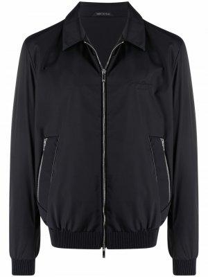 Zipped bomber jacket Giorgio Armani. Цвет: черный