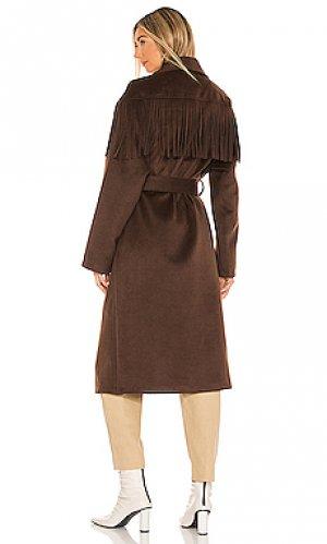 Пальто pierra House of Harlow 1960. Цвет: коричневый