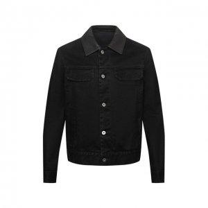 Джинсовая куртка Zegna Couture. Цвет: чёрный