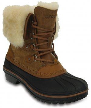 Ботинки женские CROCS Womens AllCast II Luxe Shearling Boot Wheat (Бежевый) арт. 203431. Цвет: бежевый