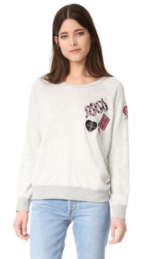 Пуловер с нашивками David Lerner. Цвет: серый