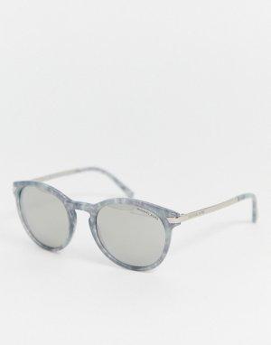 Круглые солнцезащитные очки Michael Kors-Серебряный Kors