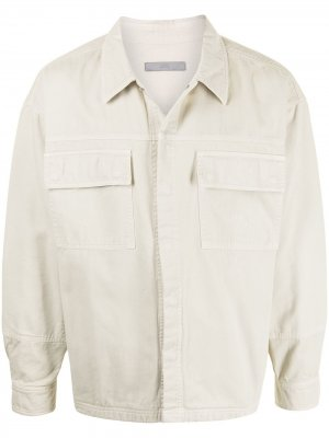 Джинсовая куртка оверсайз A-COLD-WALL*. Цвет: белый