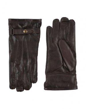 Перчатки BELSTAFF. Цвет: темно-коричневый