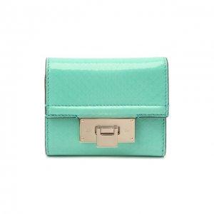 Кожаное портмоне Ralph Lauren. Цвет: зелёный