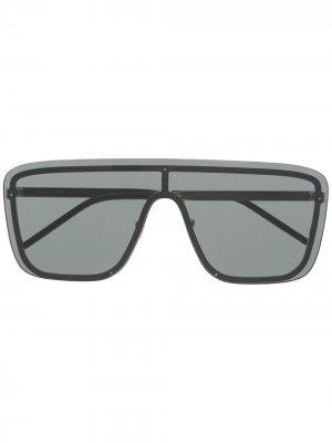 Солнцезащитные очки-маска SL364 Saint Laurent Eyewear. Цвет: черный