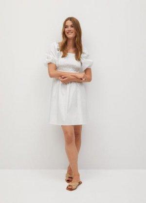 Платье с эластичной вставкой - Beatriz Mango. Цвет: грязно-белый