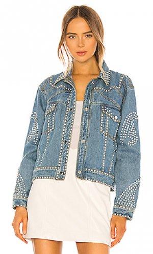 Джинсовая куртка electra Understated Leather. Цвет: синий