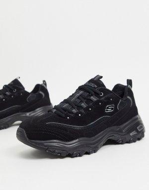 Черные кроссовки -Черный Skechers