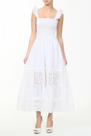 Платье Coccapani. Цвет: белый