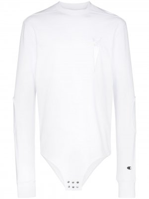 Толстовка с вышитым логотипом из коллаборации Champion Rick Owens X. Цвет: белый
