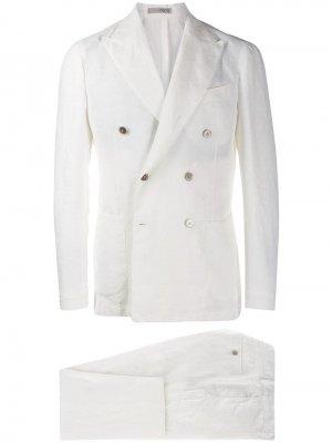 Классический костюм-двойка 0909. Цвет: белый