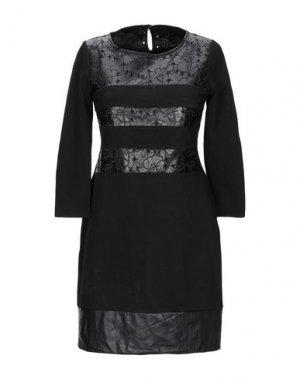 Короткое платье PAOLA FRANI. Цвет: черный
