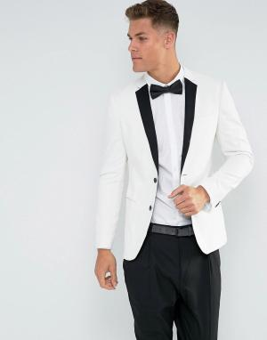 Белый пиджак-смокинг New Look. Цвет: белый