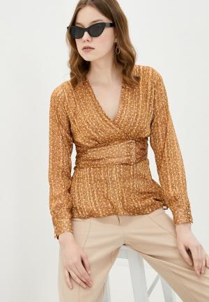 Блуза adL. Цвет: коричневый