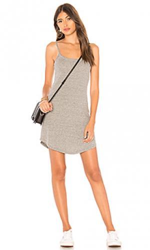 Платье-майка vintage triblend Chaser. Цвет: серый