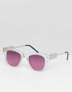 Квадратные солнцезащитные очки с красными стеклами в прозрачной оправе Spitfire. Цвет: очистить