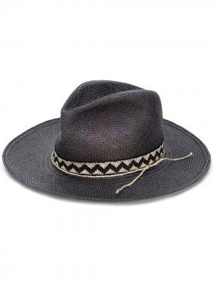 Шляпа-федора Super Duper Hats. Цвет: черный