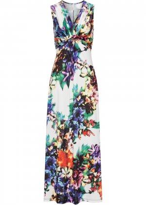 Пляжное платье bonprix. Цвет: белый