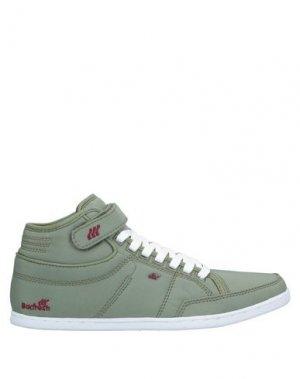 Высокие кеды и кроссовки BOXFRESH. Цвет: зеленый