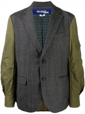 Стеганый пиджак Junya Watanabe. Цвет: серый