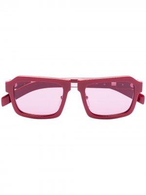 Солнцезащитные очки Duple с затемненными линзами Prada Eyewear. Цвет: красный