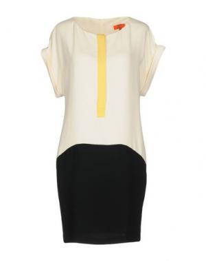 Короткое платье ALBA CONDE. Цвет: слоновая кость