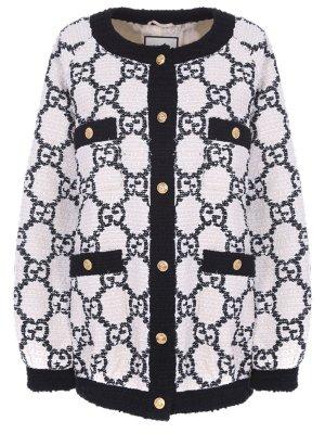 Куртка-бомбер с принтом GUCCI. Цвет: разноцветный