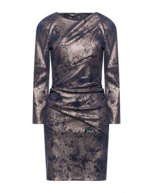 Короткое платье JITROIS. Цвет: темно-синий