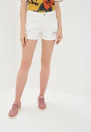 Шорты джинсовые SH. Цвет: белый