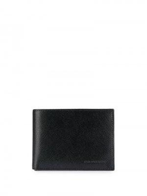 Фактурный бумажник в два сложения Karl Lagerfeld. Цвет: черный
