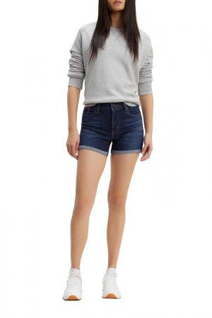 Шорты джинсовые Mid Length Levis. Цвет: синий