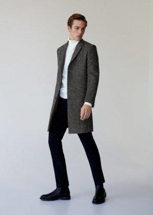 Пальто с шерстью Tailored - Utah Mango. Цвет: серый