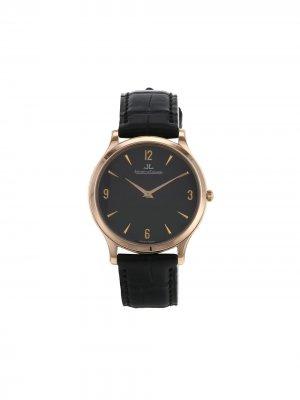 Наручные часы Master Ultra Thin pre-owned 34 мм 2010-го года Jaeger-LeCoultre. Цвет: черный