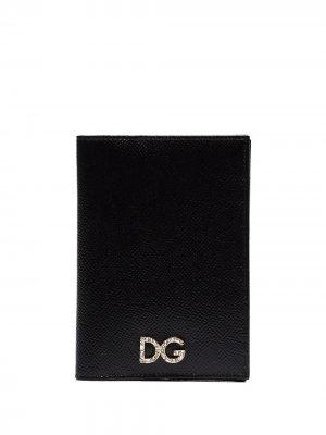 Декорированная обложка для паспорта с логотипом Dolce & Gabbana. Цвет: черный