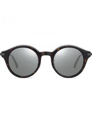 Солнцезащитные очки в круглой оправе Jimmy Choo Eyewear. Цвет: черный