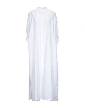 Платье длиной 3/4 HACHE. Цвет: белый