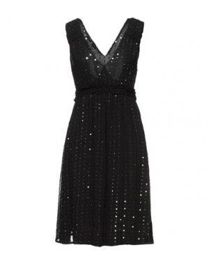 Короткое платье CARACTÈRE. Цвет: черный