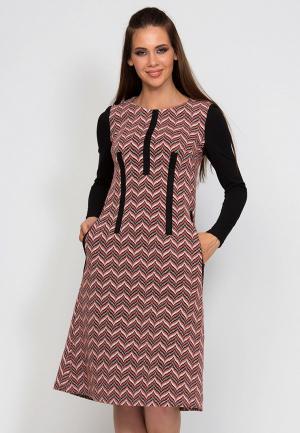 Платье D.VA MP002XW1GLO5. Цвет: коралловый