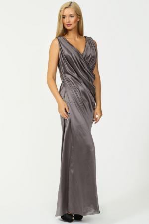 Платье вечернее Dennis Basso. Цвет: серый